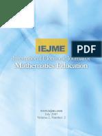 International Electronic Journal of Mathematics Education_Vol 2_N2