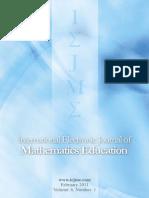 International Electronic Journal of Mathematics Education_Vol 6_N1