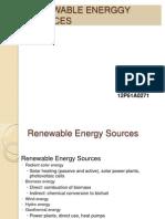 Renewable Energy Sources 271ppt