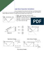 Angle Beam Trig Calculations