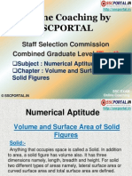 SSC CGL Numerical Aptitude Volume and Surface Area of Solid Figures