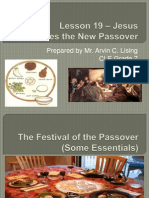 Lesson 19 - Jesus Establishes the New Passover