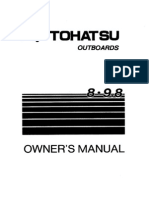 Tohatsu Owner's Manual