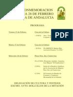Conmemoracion Dia de Andalucia
