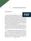 Alain de Benoist - Confronting Globalization