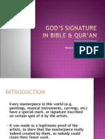 God's Signature