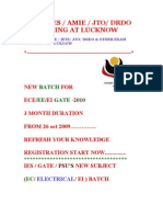 GATE  / IES COACHING [ ECE / EE / EI / ME ] LUCKNOW