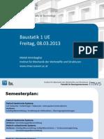 Baustatik UE SS 2013 Vortrag 1a