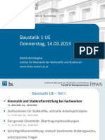 Baustatik UE SS 2013 Vortrag 1b