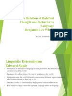 The Relation of Habitual Thought and Behavior to Language