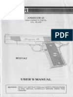 Armscor 45 High Capacity Pistol Cal. 45 ACP - User's Manual
