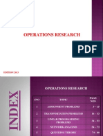 Operations Research - 2013