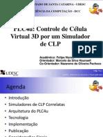 controle de célula virtual 3D por um simulador de CLP