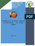 INFORME PRÁCTICO DE LA TRANSFORMACION DE FORMATO DE ARCHIVOS MULTIMEDIA