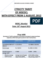 Tariff Order Dated 16.08.2012 of MSEDCL in Breif