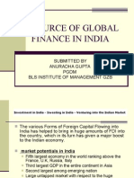 Source of Global Finance in India