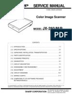 SHARP JX-250 M P Circuits Description SvcMnls