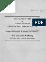 Wilamowoitz, Über die ionische Wanderung.