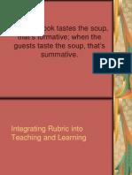 Integrating Rubric in Teaching