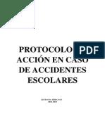 Protocolo Accidente Escola