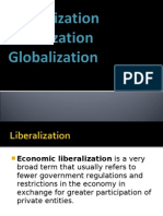 Liberalization Privatization Globalization