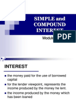 3.1 Simple & Compound Interest