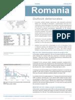 Consensus Forecast Romania - February 2013