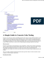 A Simple Guide to Concrete Cube Testing