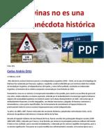 Malvinas no es una simple anécdota histórica- Carlos Andrés Ortiz