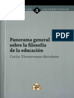 Panorama General Sobre La Filosofia de La e Educacion