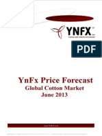 YnFx Cotton Price wEForecast - June 2013