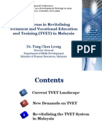 Key Reforms in Revitalizing TVET Malayisa
