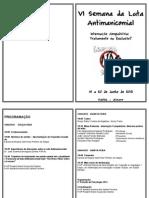 Folder Vi Semana Da Luta Antimanicomial Fafia 2013 -Grande