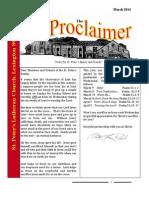 March 2014 Proclaimer