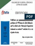 Certificado Vi Luta Antimanicomial Fafia 2013 - Mesa - Sem Nome