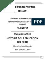 Monografia -Historia de la educación en el Perú - Albino Pacheco