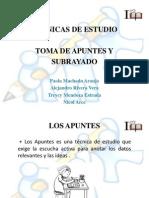 Diapositivas de Toma de Apuntes y Subrayado Trabajo Final