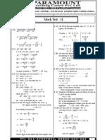 Ssc Mains (Maths) Mock Test-11 (Solution)
