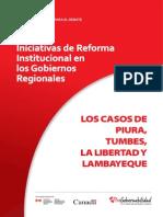 Iniciativas de Reforma Institucional en Gobiernos Regionales