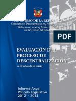 Evaluación del proceso de descentralización