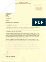 Andy Burnham letter to FA chief Greg Dyke