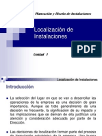 Localización de Instalaciones  U-1