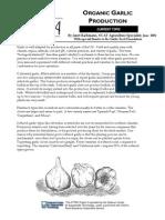 Organic Garlic Production