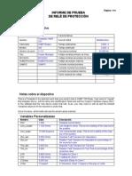 Informe de Prueba relé de sobrecorriente direccional