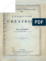 Bergson Evolution Creatrice