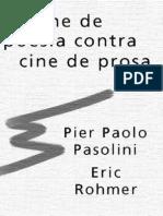 Cine Poesia Prosa Pasolini Rohmer