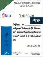 Certificado Vi Luta Antimanicomial Fafia 2013 - Participante - Sem Nome