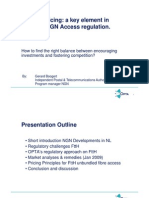 Access Pricing a Key Element in Effective NGN Access Regulation