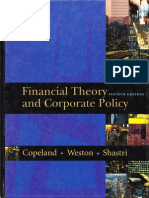 Financial Theory and Corporate Policy FOURTH EDITION STUDENT SOLUTIONS MANUAL