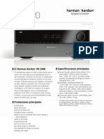 Specification Sheet - HK 3490 (Spanish EU)